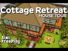 The Sims FreePlay - Cottage Retreat (Original house design) - YouTube