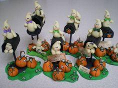 Halloween centros de mesa!