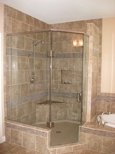 bathroom with jacuzzi and shower designs - Google Search