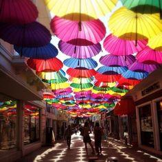 Sweet summer memories of street with umbrellas in #Fethiye #Turkey