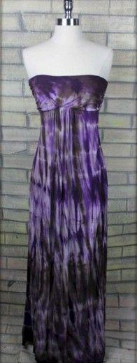 Purple Rain Tie Dye Maxi Tube Dress   Lani Clothing   Trois Femmes Boutique