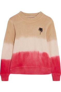 The Elder Statesman | Dégradé intarsia cashmere sweater | NET-A-PORTER.COM