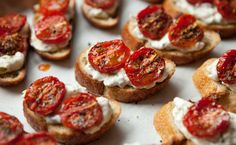 Epicure's Hot Artichoke Dip and Oven-roasted Tomato Bruschetta (using Bruschetta Herbs) Epicure Recipes, Tapas Recipes, Healthy Recipes, Real Food Recipes, Snack Recipes, Cooking Recipes, Healthy Snacks, Yummy Eats, Yummy Food