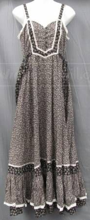 Vintage Gunne Sax Long Peasant Dress