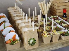 A fresh selection of salads are nicely displayed in easy to grab containers that will allow participants to continue working hard over lunch as needed.