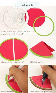 Easy Like Sunday Morning Watermelon Mini Cards | Damask Love