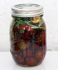 Coconut & Lime: Rosemary-Ginger Pickled Red Grapes. Should be delicious!
