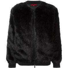 Philanthropy Faux Fur Bomber Jacket ($288) ❤ liked on Polyvore featuring outerwear, jackets, black, flight jacket, bomber style jacket, bomber jacket, black faux fur jacket and faux fur bomber jacket