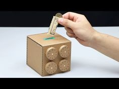 Amazing Safe Box 4 Digit Password DIY from Cardboard Escape Box, Escape Room Diy, Craft Stick Crafts, Fun Crafts, Crafts For Kids, Woodworking Box, Woodworking Projects Plans, Escape Room Puzzles, Cardboard Box Crafts