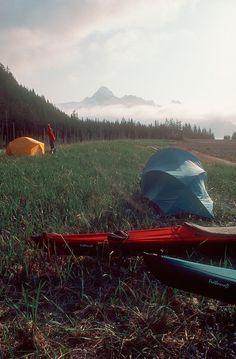 Alaska, Sea Kayak campsite, Kenai Fjords National Park
