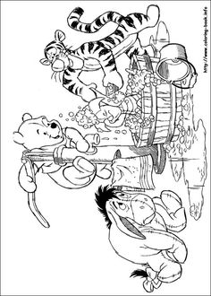 Winnie the Pooh coloring picture