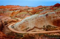 24 million years It all started 24 million years ago. That's how long ago the formation process of the Zhangye geopark took, meaning that the Danxia landforms date back to the Cretaceous age.