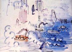 Raoul Dufy (1877/1953) à la Galerie Roussard, Montmartre