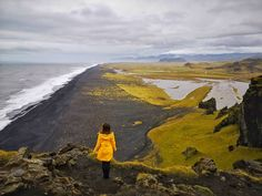 Just stand there, look and deeply breath in the cool air. All this while trying to capture a mental picture Iceland Waterfalls, Green Landscape, Beautiful Waterfalls, Iceland Travel, Famous Places, Travel Guide, The Good Place, Natural Beauty, National Parks