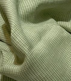 100-Flax-Linen-Fabric-Yarn-Dyed-2mm-Small-Gingham-Check-Brown-and-Light-Green