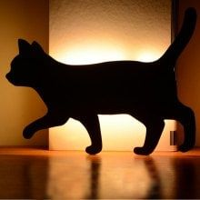 Optically Controlled Sound Control Walking Cat Night Light Shadow LED Projection Lamp Novelty Lighting, Filing System, Black Lamps, Lighting Online, Led Ceiling Lights, Led Night Light, Light And Shadow, Cat Lovers, Walking