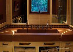 Double Sink, Trough Sink, Cast Concrete, Veining  Concrete Sinks  SunWorks, etc. LLC  Annville, PA