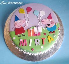 Zuccherosamente...: Torta Peppa Pig per Mirta