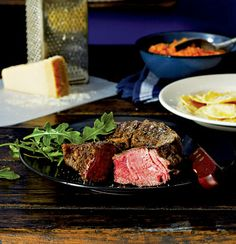 Pangrilled steak with pasta pockets and butternut mash Olive Oil Pasta, Midweek Meals, Beef Steak, Roast, Stuffed Peppers, Pockets, Cooking, Sauces, Recipes