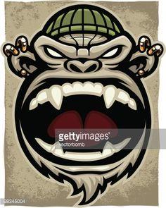 Arte vectorial : Thug Monkey Version II - Scream