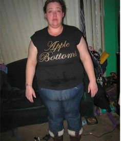 Rotten Apple Bottoms In This Picture: Photo of person with fupa