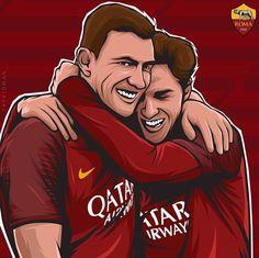 As Roma, Soccer, Football, Fictional Characters, Futbol, Futbol, European Football, European Soccer, American Football