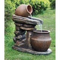Found it at Wayfair - Villa Oliviero Cascading Garden Stone Sculptural Fountain Garden Fountains For Sale, Outdoor Wall Fountains, Indoor Water Fountains, Indoor Water Features, Cascade Water, Indoor Waterfall, Backyard Water Feature, Garden Decor Items, Garden Stones