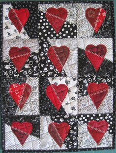 Dice and Splice Heart Shaped World Quilt PDF by bunchberrystudio, $5.00