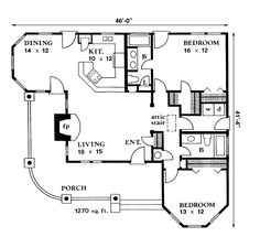 Plan - Find Unique House Plans, Home Plans and Floor Plans at TheHouse. - House Plans, Home Plan Designs, Floor Plans and Blueprints Unique House Plans, House Plans One Story, House Plans And More, Ranch House Plans, Dream House Plans, Small House Plans, Unique Floor Plans, The Plan, How To Plan