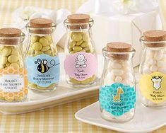 Personalized Milk Bottle Favor Jars for Baby Showers - Kate Aspen