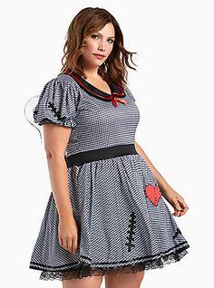 Plus Size Leg Avenue Halloween Dolly Gingham Costume, PLAID