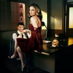 Emily Deschanel and David Boreanaz, Bones.
