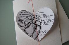 Anatomical love heart - Valentine's day card