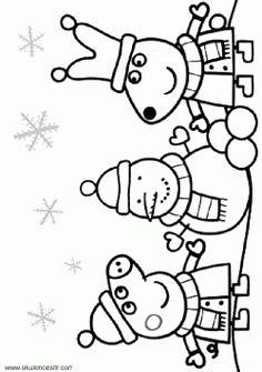 (Çocuklar için en iyisi!) Kış Resmi Boyama