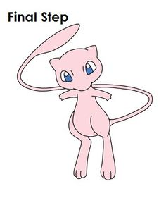 How to Draw Mew Last Step