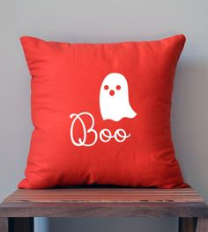 cute 'boo' little ghost halloween pillow