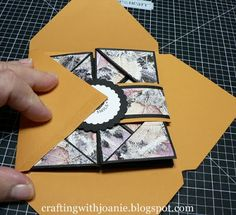 There are times I have become so busy with a paper crafting project that it grew and grew and before I knew it I didn't have an envelope the...