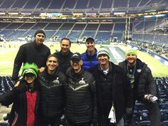 Jim Caviezel with son Bo, brother Tim, dad James, friend Nathan and other friend 2014