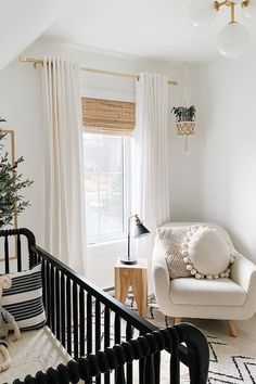 Is it the bouclé fabric? The curvaceous proportions held up by a solid wood frame? How it will seamlessly suit the rest of your decor, regardless of your style? It's all this and more. Take a saunter down easy street, end up on the Gabriola. Photo by @macleodhomes_. #NurseryDecor #NurseryInspiration #NurseryChair Nursery Inspiration, Style Guides, Valance Curtains, Nursery Decor, Solid Wood, Living Room, Bedroom, Design, Home Decor