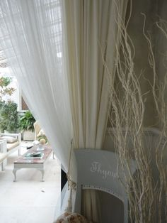 muslin and linen curtains texture