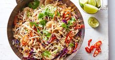 15 minutes is all you need to make this fiery pork and noodle stir-fry.