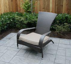 Hand Woven Wicker Muskoka Chair with Cushion | Walmart.ca