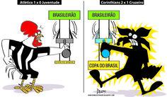 Charge do Dum (Zona do Agrião) sobre Atlético e Cruzeiro nas quartas de final da Copa do Brasil (29/09/2016) #Charge #Dum #Cruzeiro #Atlético #Galo #CopaDoBrasil #Corinthians #Juventude #HojeEmDia