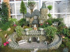fairy gardens | The Fairy's Garden Miniature Fairy Selchies Selchie's Seat Bench ...