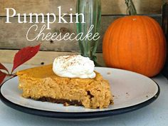 It's Our Pinteresting Life : Getting Cozy: Pumpkin Cheesecake