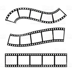 Vector realistic illustration of film strip on white background.