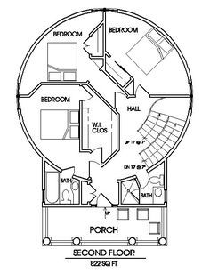 Grain silo houses - The Classic Plan Round House Plans, Dream House Plans, House Floor Plans, Ranch House Additions, Shelter, Earth Bag Homes, Silo House, Grain Silo, Dome House