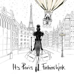 It's still one of my favourite illustrations.... PARIS FASHION WEEK has just begun!