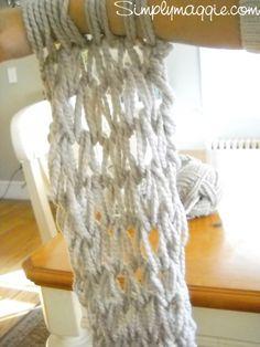 Вязаный шарф (DIY)