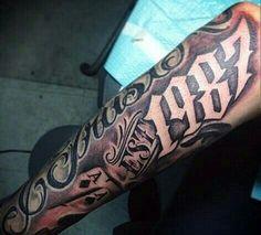 Tattoos for men Chicanas Tattoo, Money Tattoo, Forarm Tattoos, Forearm Tattoo Men, Body Art Tattoos, Hand Tattoos, Sleeve Tattoos, Tatoos, Est Tattoos